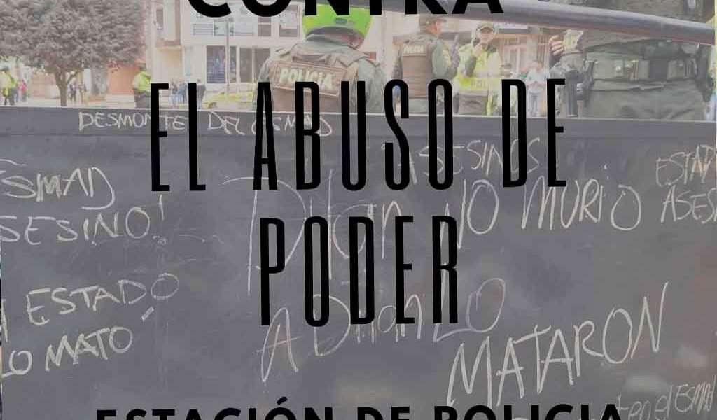 Movilización en Zipaquirá contra abuso de la Policía