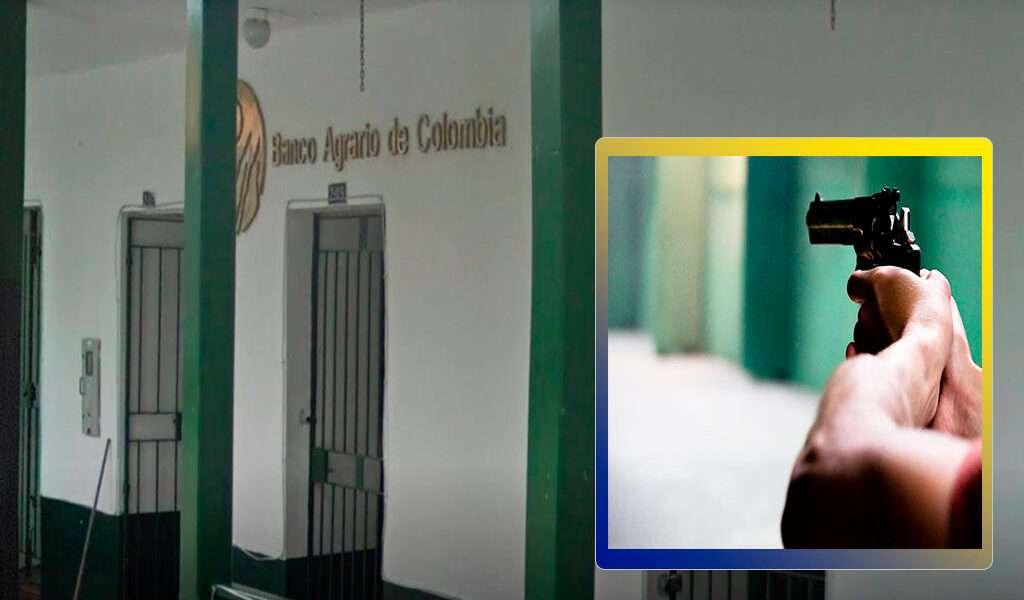 Banco Agrario de Sopó fue asaltado este jueves