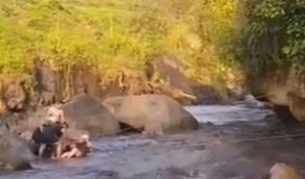 Siete bañistas fueron rescatados en el río Apulo
