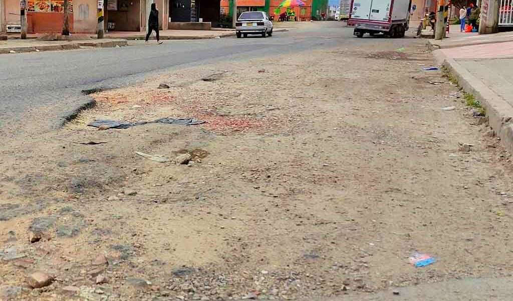 El pésimo estado de la malla vial en Zipaquirá
